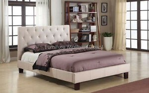Gorgeous Linen bed frame half price Boxing week sale on now in C