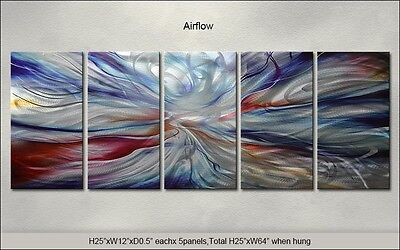 Modern Original Metal Wall Art Abstract Large Indoor-Outdoor Decor by Artist for sale  Shipping to India