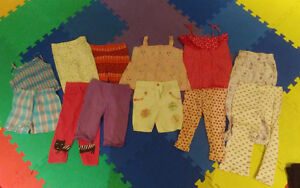 12 pieces of summer clothing for girls, size 3T