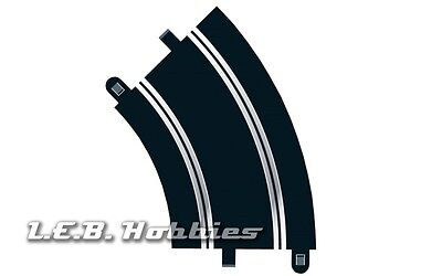 Scalextric Track Radius 2 Curve 45º 1:32 slot car track, 2/pk C8206, used for sale  Shipping to Canada