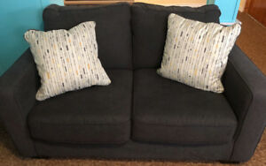 Grey love seat for sale - clean, great condition