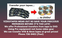 PROFESSIONAL QUALITY VIDEOTAPE TO DVD TRANSFERS