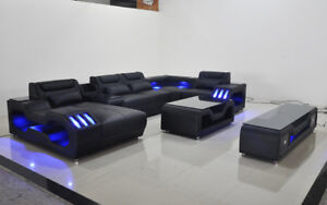 * Model G8046 - NEW 'Spaceship' Design Modern Sectional + LED *