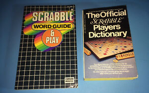 Official Scrabble Players Dictionary or Word Guide Play Book