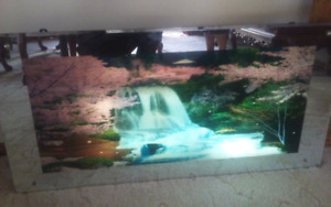 LITE MOTION ILLUSION WATERFALL MIRROR WITH SOUND EFFECT
