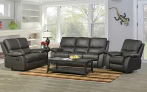 Recliner Set - 3 Piece - Genuine Leather [Espresso] 3 pc Set / Espresso