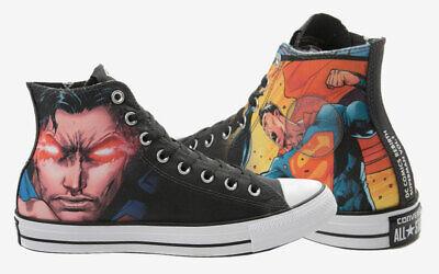 NEW NIB Converse Unisex Chuck Hi Top Superman DC Shoes Justice Superhero - Superhero Converse