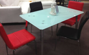 Dining table or 5 pc dining set for extra cost, new in the  box