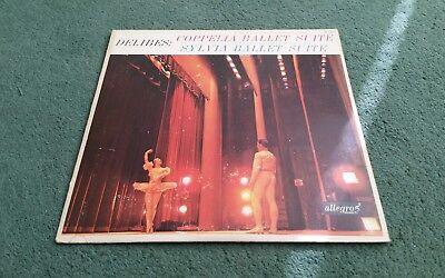 ALL 758 COPPELIA SYLVIA BALLET SUITE DELIBES ALLEGRO LP Rias Symphony Orchestra