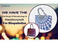 Mandala and kantha bags-from Handicrunch