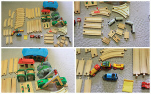 Original BRIO Wooden Train Set with Extras