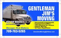 Gentleman Jim's Moving Inc... SAVE !  SAVE!!  SAVE!!!