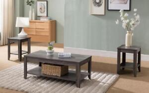 Coffee Table Set with Shelf - 3 pc - Reclaimed Wood Reclaimed Wood