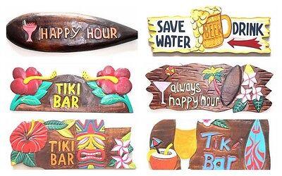 Hawaii Tiki Schilder Bar Wandbrett Südsee Bali Partykeller Happy Deko (Tiki Bar Dekoration Party)