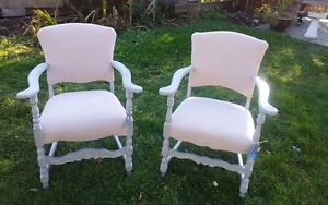 Antique refurbished occasional chairs