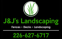 Call JJ'S we have openings for your new deck or fence this week