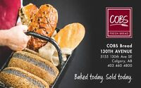Full-time Sales Associates and Bakers to join COBS Bread