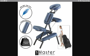 chaise de massage et sac transport