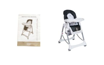 Steelcraft Hi-Lo HighChair with Adjustable Footrest & Inclusions