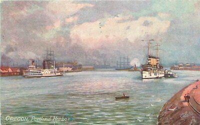 Boats 1908 Oregon Portland Tuck Oilette postcard 11173