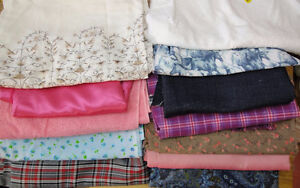 Lot of fabric - crafts, sewing, clothes, kids