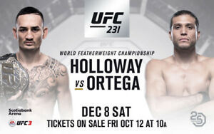 2x tickets for UFC 231  Section 101 **HARD COPY TIX**