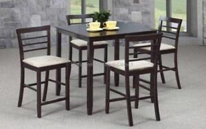 ***BLOWOUT SALE****WOODEN PUB SET WITH 4 CHAIRS****LOWEST PRICES