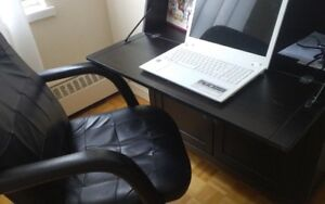 Office Computer Desk ( incl.leather chair)