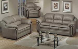 Sofa Set - 3 Piece - Tan 3 pc Sofa / Tan
