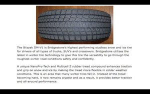 Great Blizzak Winter Tires - a steal!