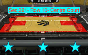 Raptors vs Miami Heat-Greens Prime-Centre Court and Sideline