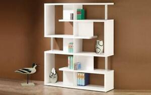 Book Shelf with Chrome Bar - Black | White White