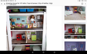 "Dollhouse for 18"" American Girl dolls"