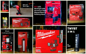Milwaukee & Misc  LED Lights for different tasks (All NEW)