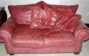 Matching Red Leather Loveseats London Ontario image 3