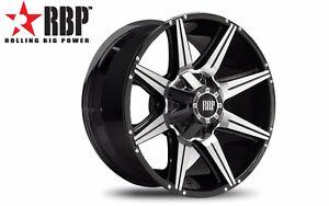 RBP 98R wheels 20x9 6x135 6x139.7 Dodge Ford Toyota 6x5.5 0mm