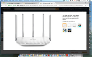 TP-Link AC1350 Dual Band Wireless Wi-Fi Router w/5 External Ante
