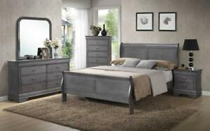 *** BRAND NEW *** HUGE SALE *** SLEIGH BEDROOM SET 8 PC - GREY***LIMITED STOCK****