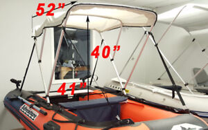 Bimini Top cover for 7.5' - 11' small boat like zodiac