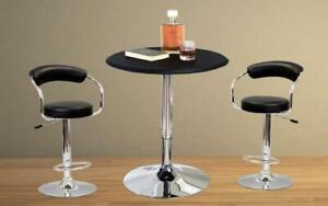 Bar Set with Stools - 3 pc - Black | White | Espresso | Red 3 pc Set / Black