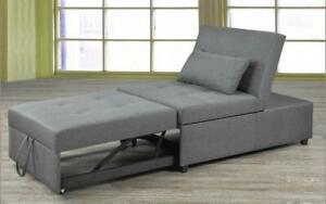 Fabric Sofa Bed - All in One - Grey Grey