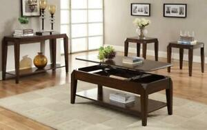 Coffee Table Set with Lift Top - 3 pc - Walnut 3 pc Set / Walnut