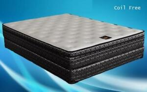 Orthopedic Premium Foam Euro Top Mattress King / Beige & Black