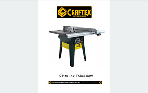 """Craftex Contractor style 10"""" Tablesaw (CT146)"""
