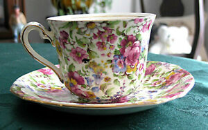 Royal Winton Grimwades-Chintz (Summertime) Cup and saucer Guelph Ontario image 3