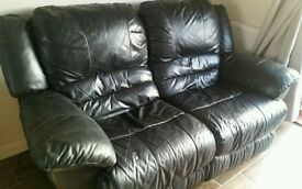 *Reduced* 2 seater leather recliner