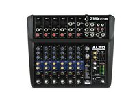 12 channel mixing desk with FX and phantom power