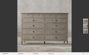Gorgeous Restoration Hardware Maison 12 Drawer Dresser