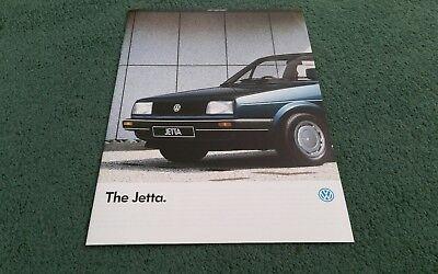 January 1986 VW JETTA UK BROCHURE C TX GL C DIESEL CL TURBO DIESEL