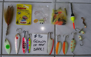 SALMON FISHING GEAR. LURES . TACKLES .